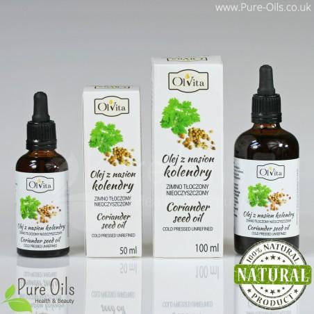 Coriander seed oil, cold-pressed and crude Ol'Vita