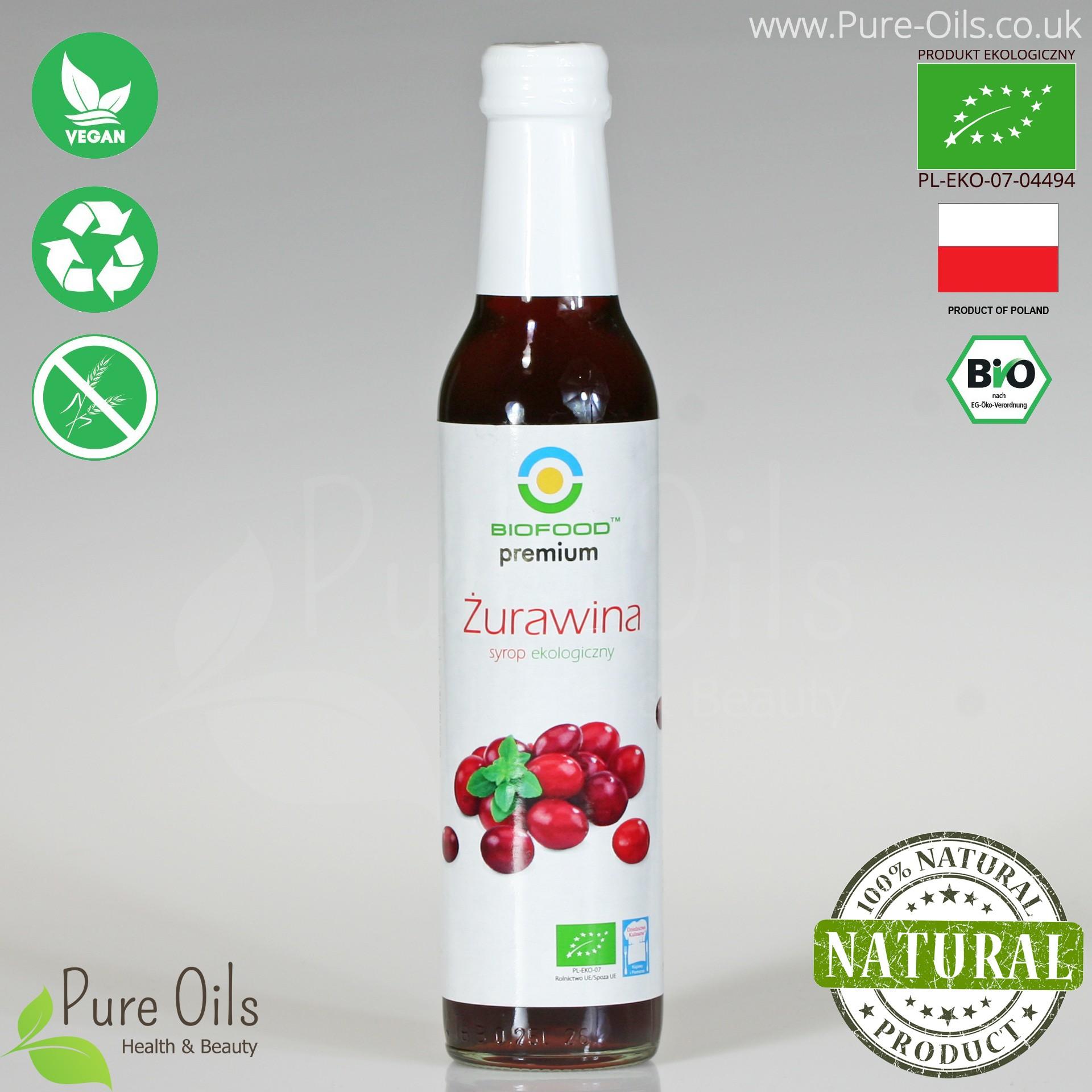 Sok z Żurawiny - Ekologiczny, Biofood