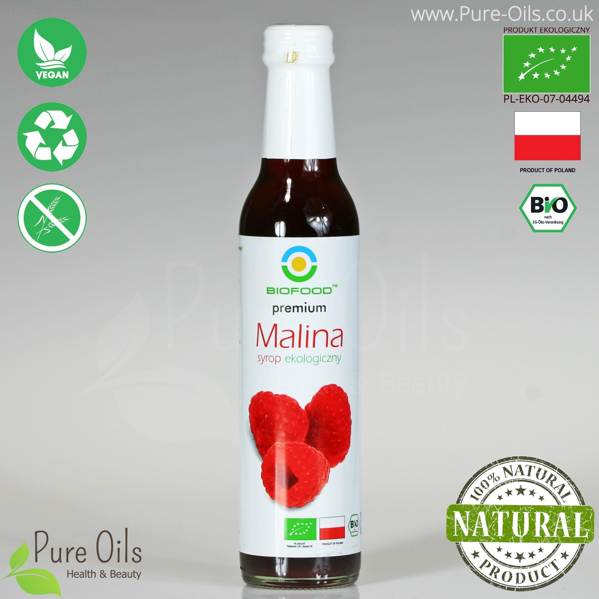 Syrop Malinowy - Ekologiczny, Biofood