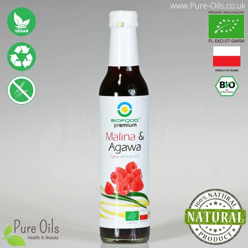 Raspberry & Agave Syrup - Organic, Biofood