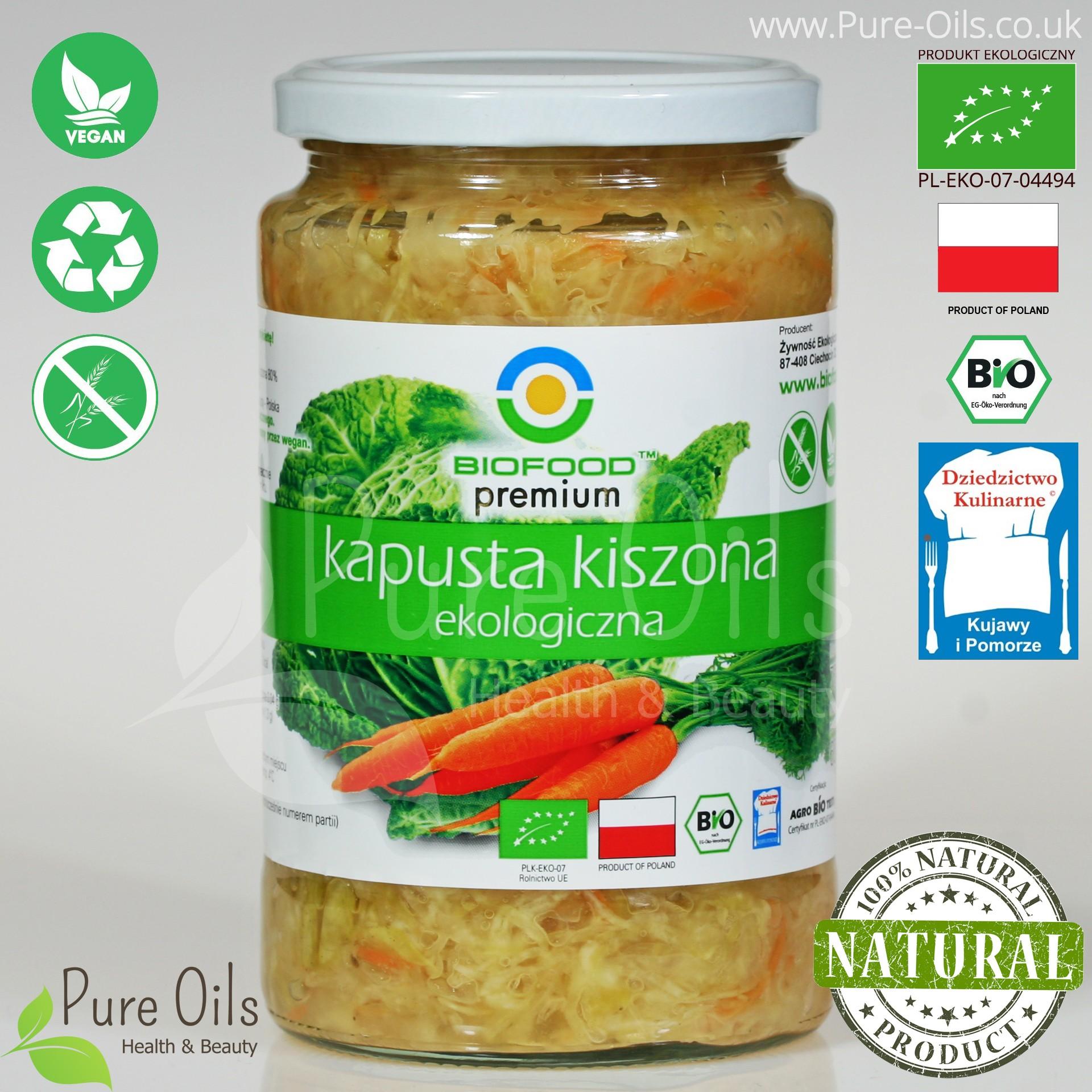 Kapusta Kiszona - Ekologiczna, BioFood
