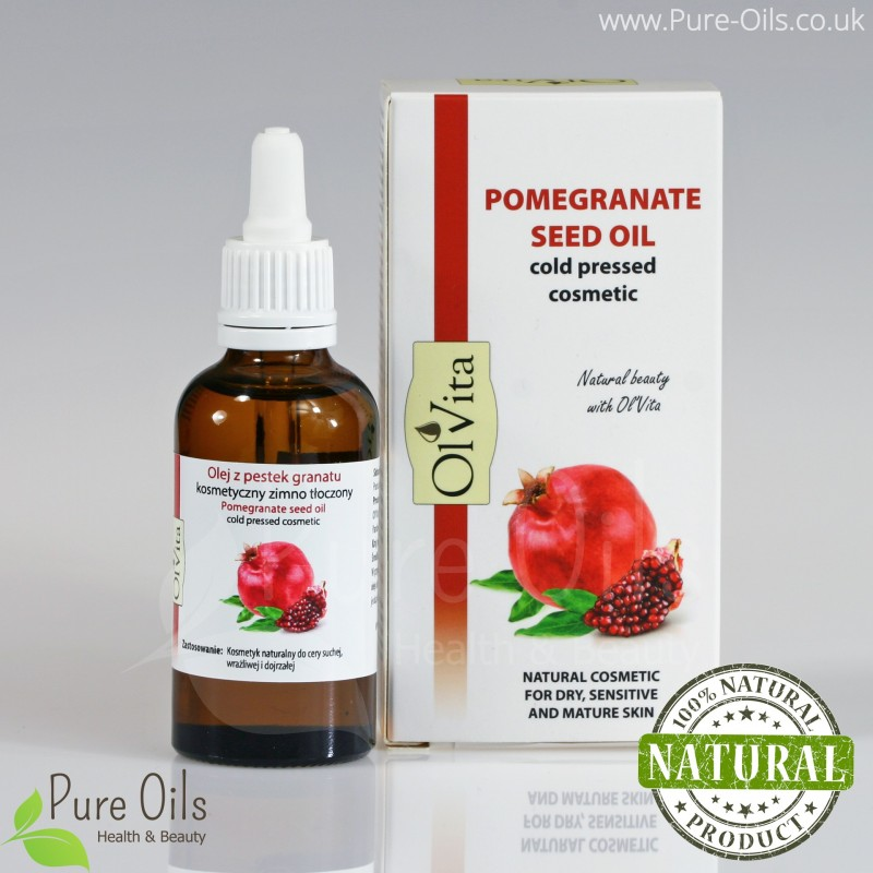 Pomegranate Seed Oil, Cosmetic, Cold-Pressed, Ol'Vita