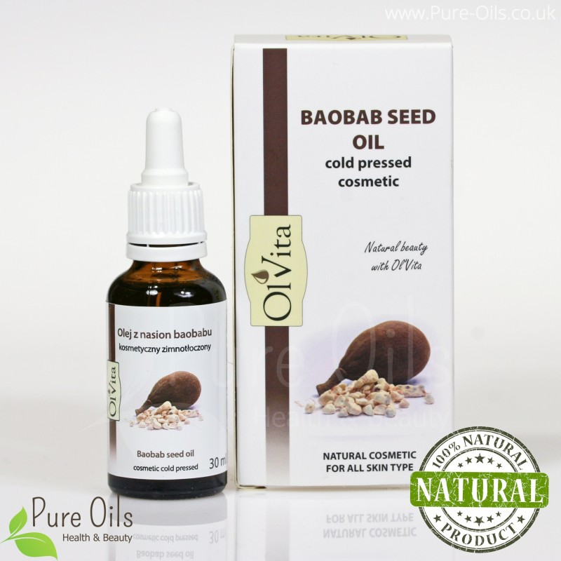 Olej z nasion baobabu, Kosmetyczny, Zimnotłoczony, Ol'vita
