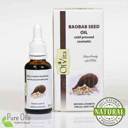 Baobab Seed Oil, Cosmetic, Cold-Pressed, Ol'Vita
