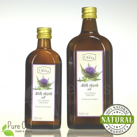Milk thistle oil, cold-pressed and crude, Dietary Supplement, Ol'Vita 250 and 500 ml