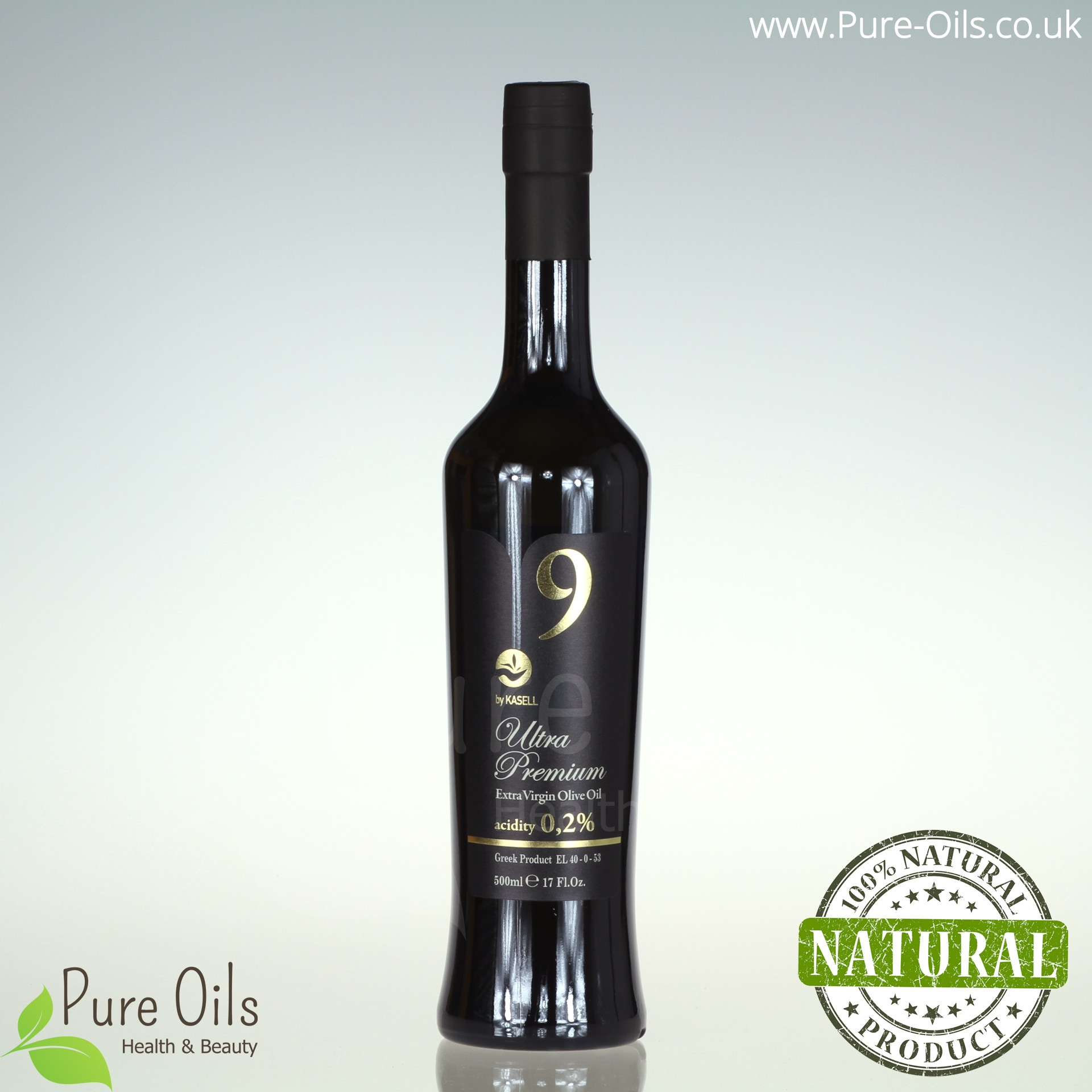 "Olive Oil - Extra Virgin ""9"" Ultra Premium by Kasell, Greece"
