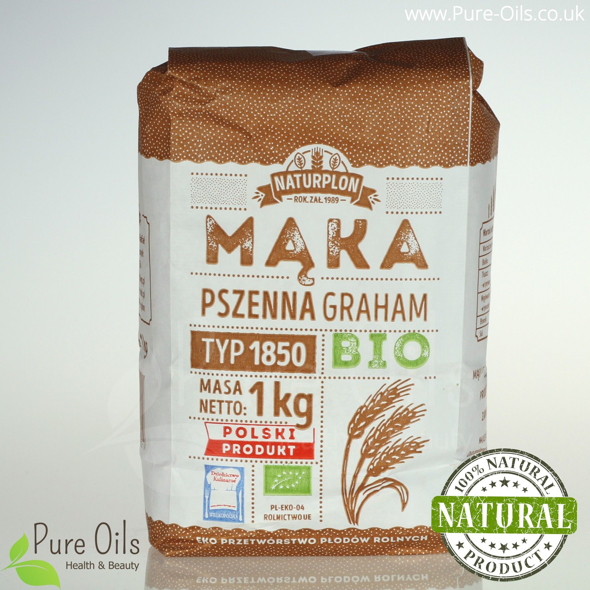Graham Wheat Flour, Type 1850 - Organic, Naturplon