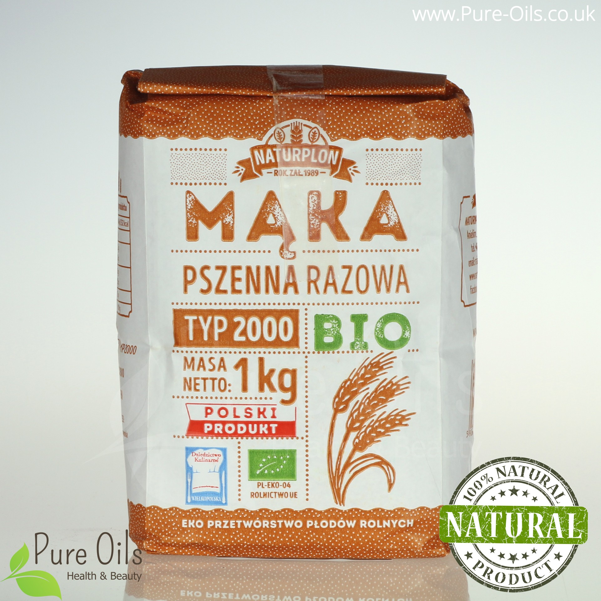 Wholemeal Wheat Flour, Type 2000 (Strong) - Organic,...