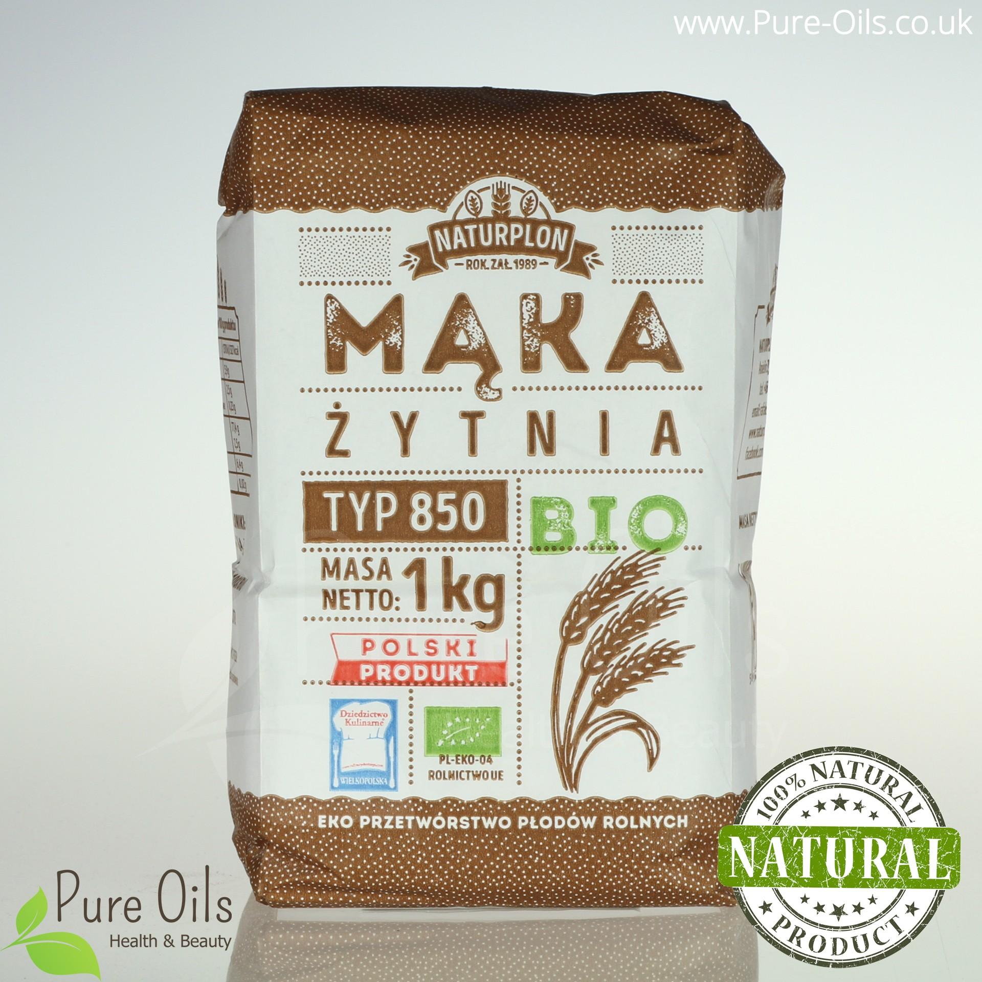 Mąka Żytnia, Typ 850 - Bio, Naturplon