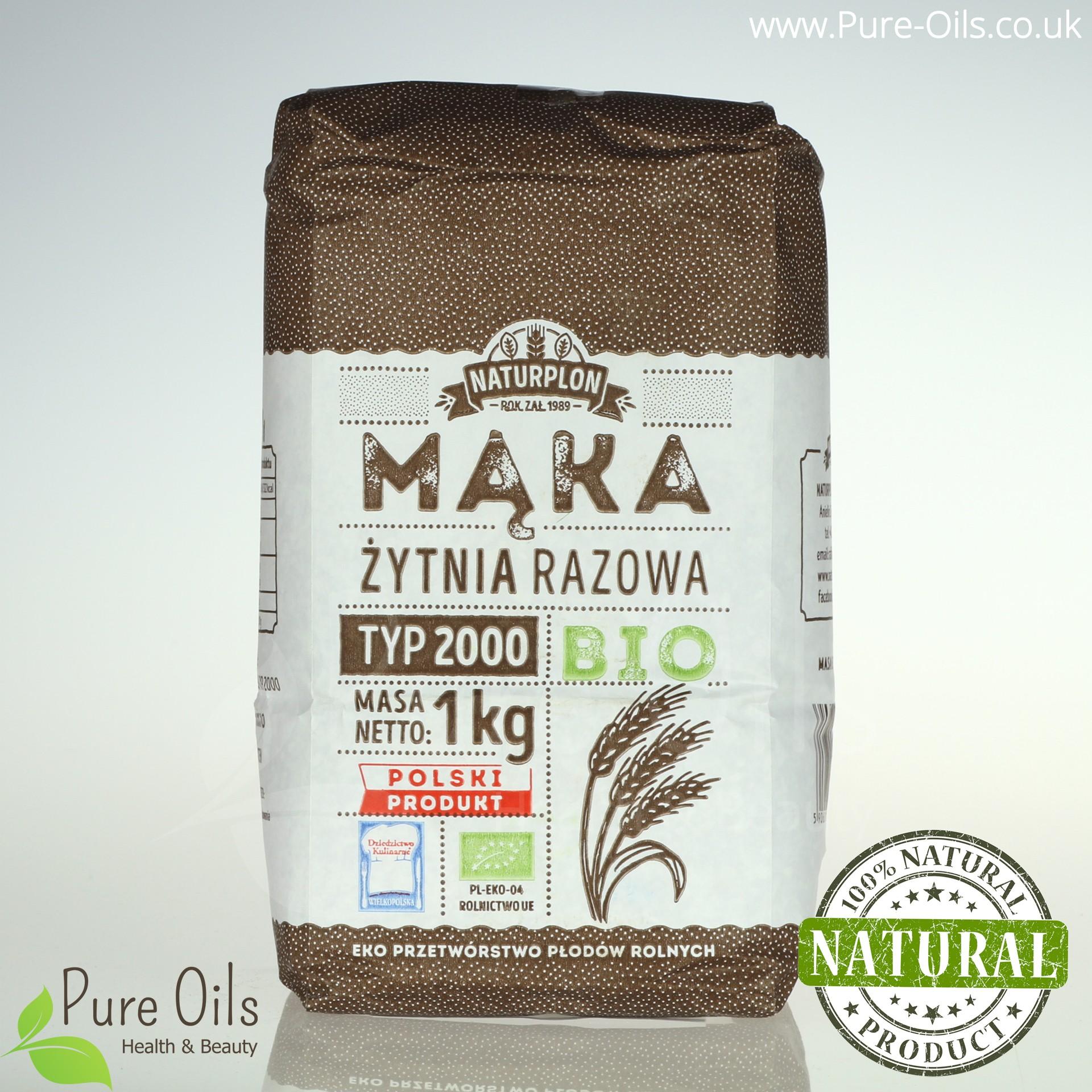 Mąka Żytnia Razowa, Typ 2000 - Bio, Naturplon