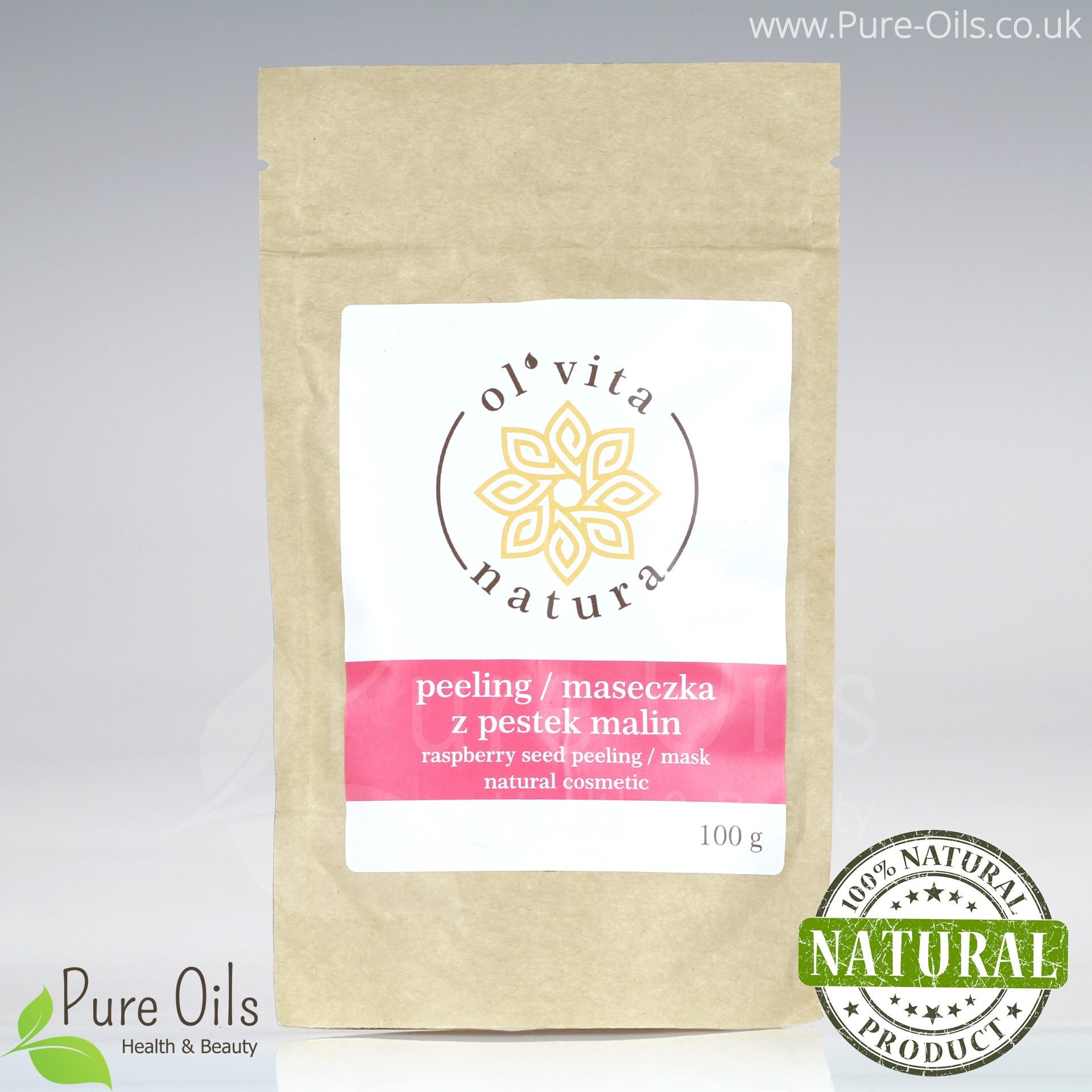 Raspberry Seeds Peeling / Mask, Powder Ol'Vita 100g