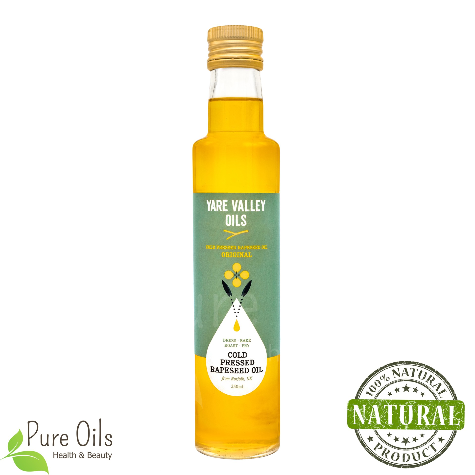 Rapeseed Oil, Cold-Pressed, Yare Valley
