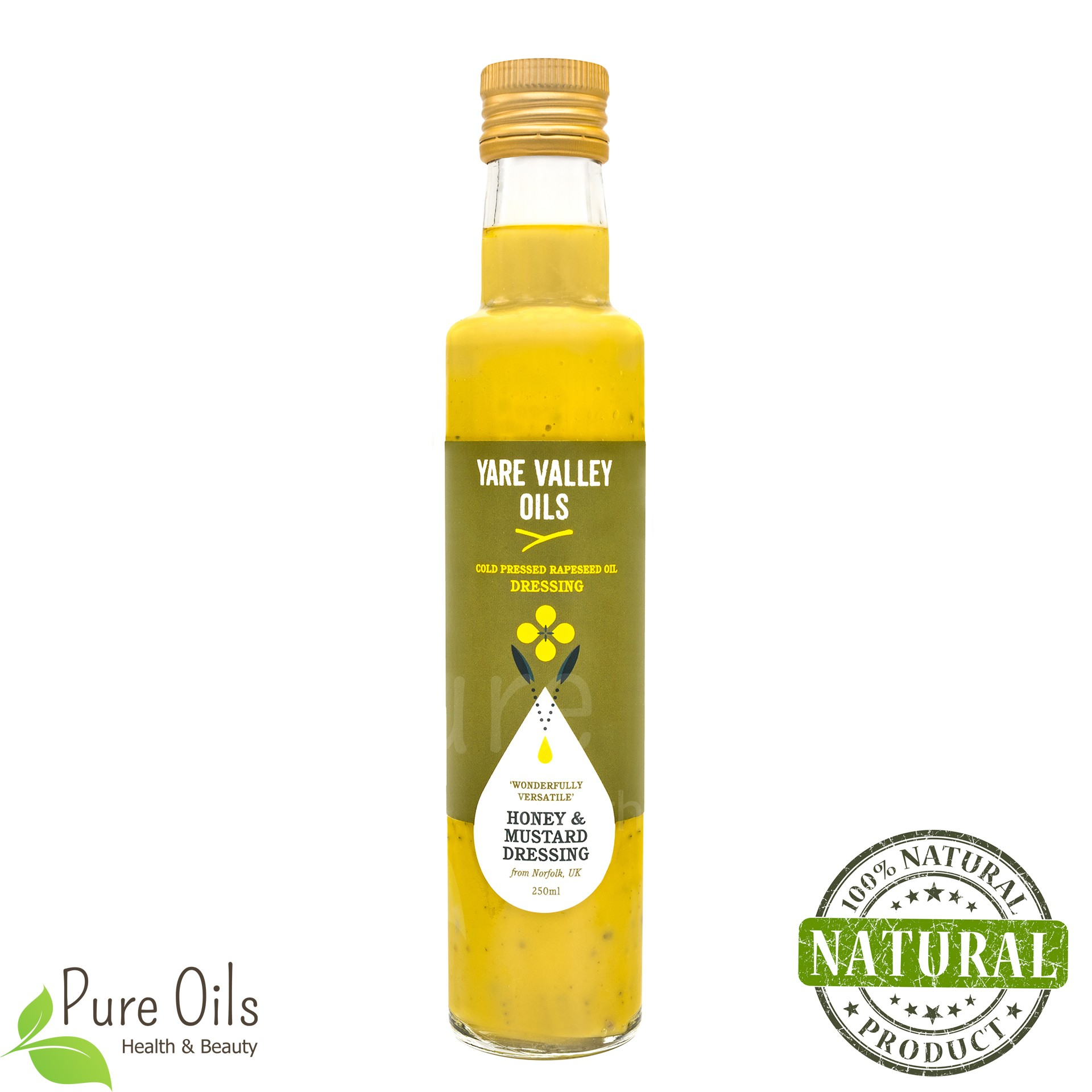 Honey & Mustard Dressing, Cold Pressed Rapeseed Oil, Yare...