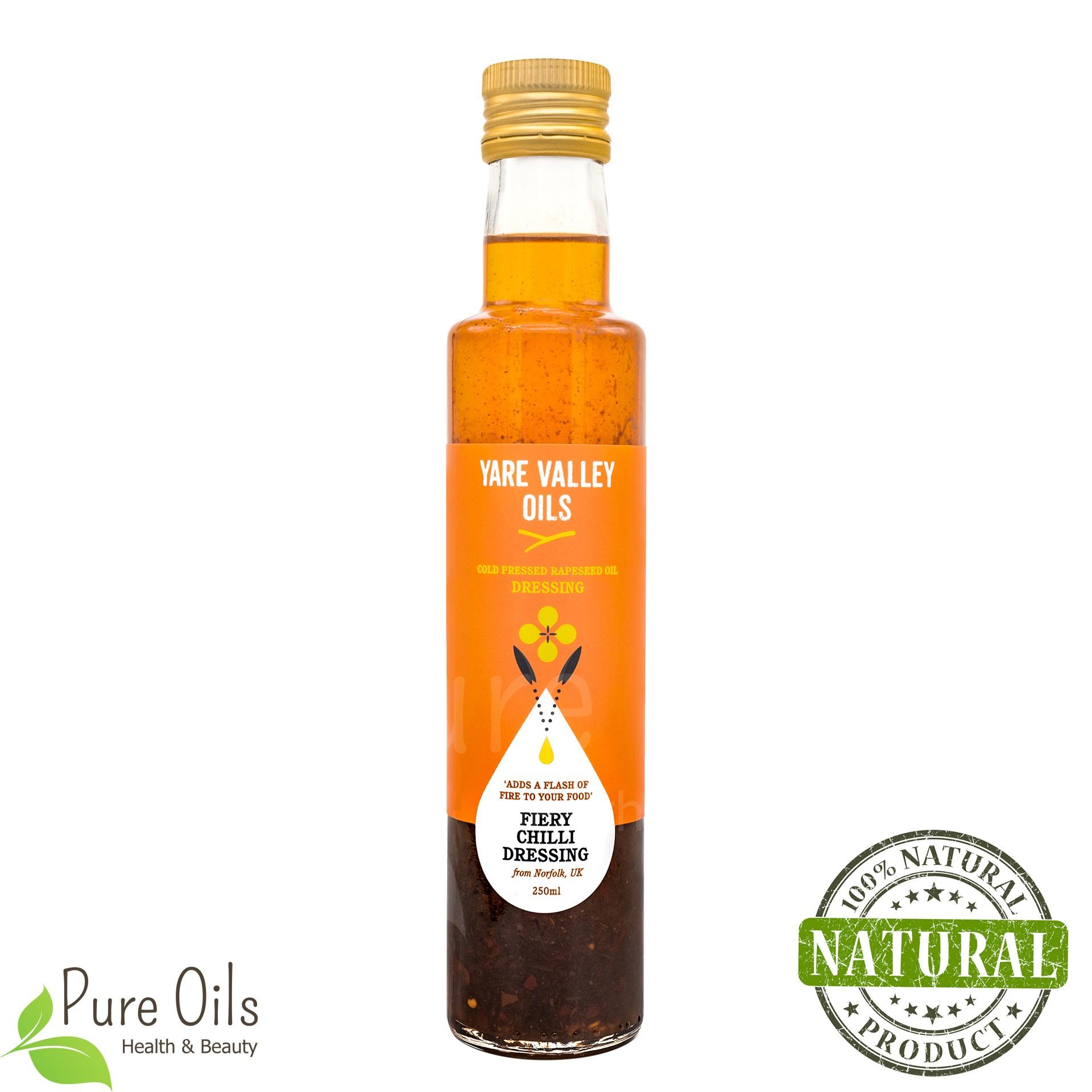 Fiery Chilli Dressing, Cold Pressed Rapeseed Oil, Yare...