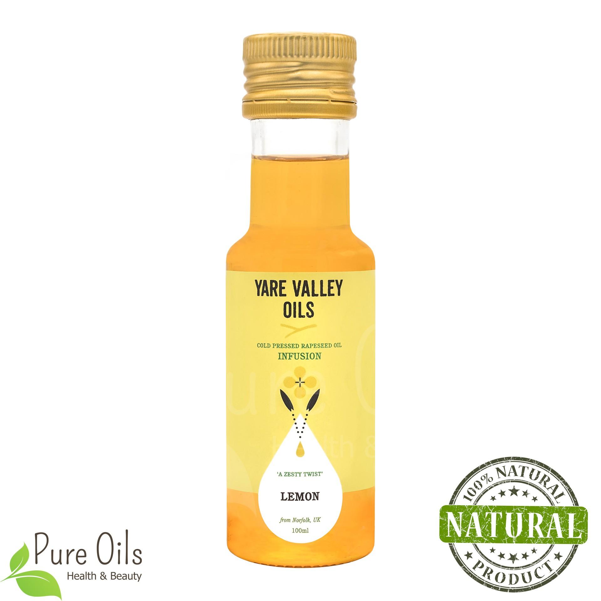 Olej Rzepakowy - Cytryna,  Zimnotłoczony, Yare Valley