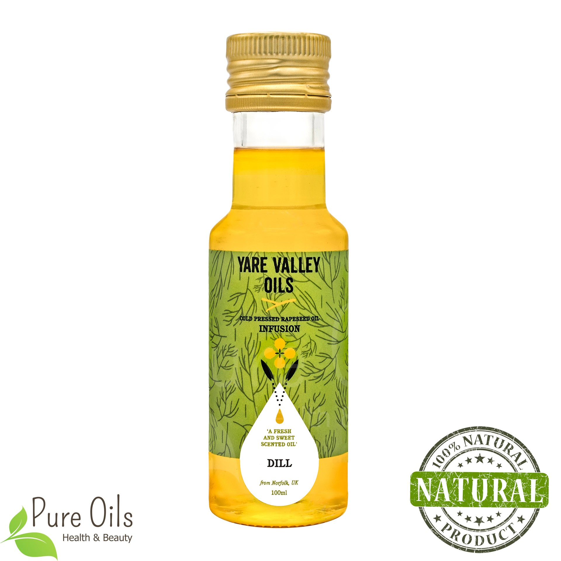 Dill Rapeseed Oil, Cold Pressed, Yare Valley