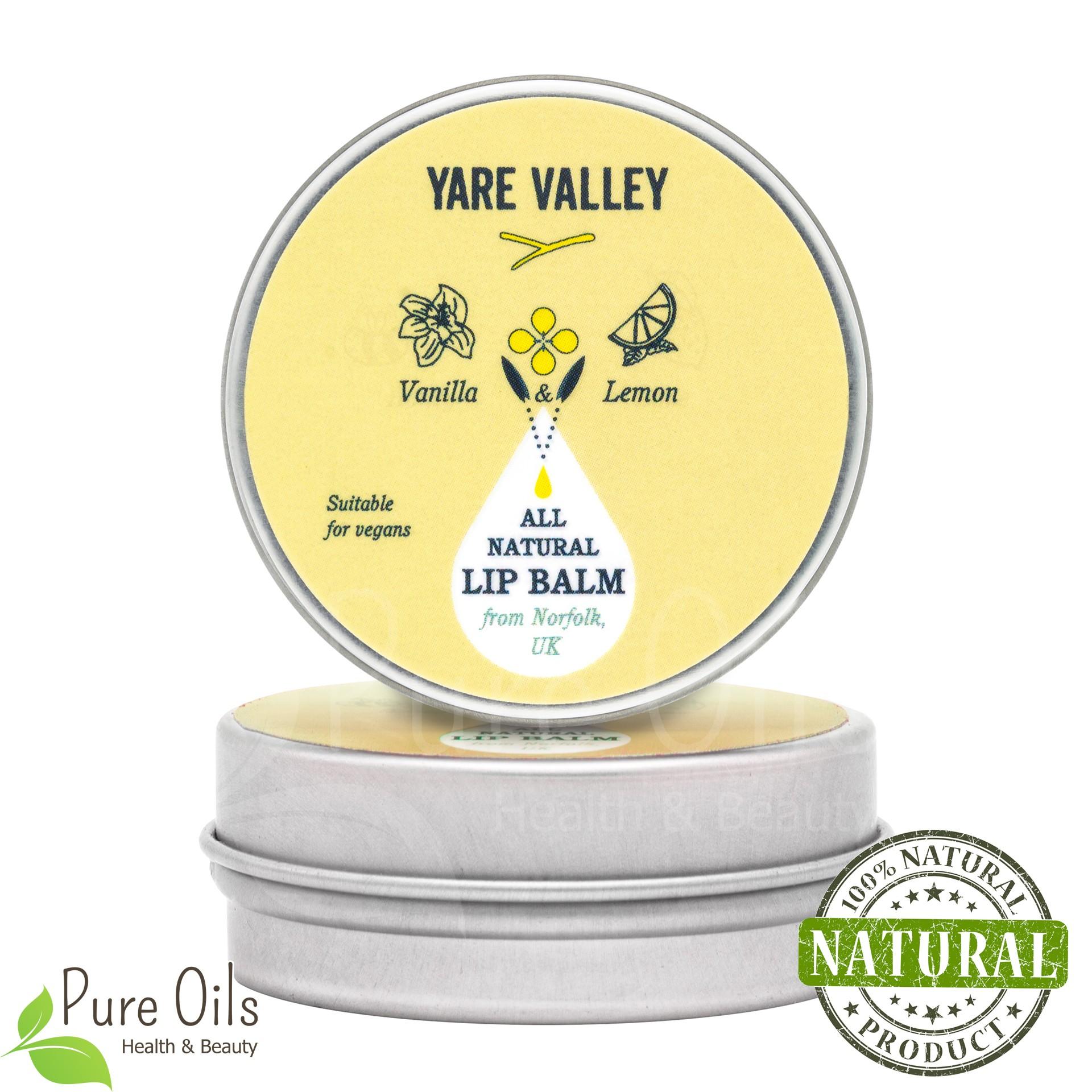 Vanilla and Lemon Natural Lip Balm, Yare Valley