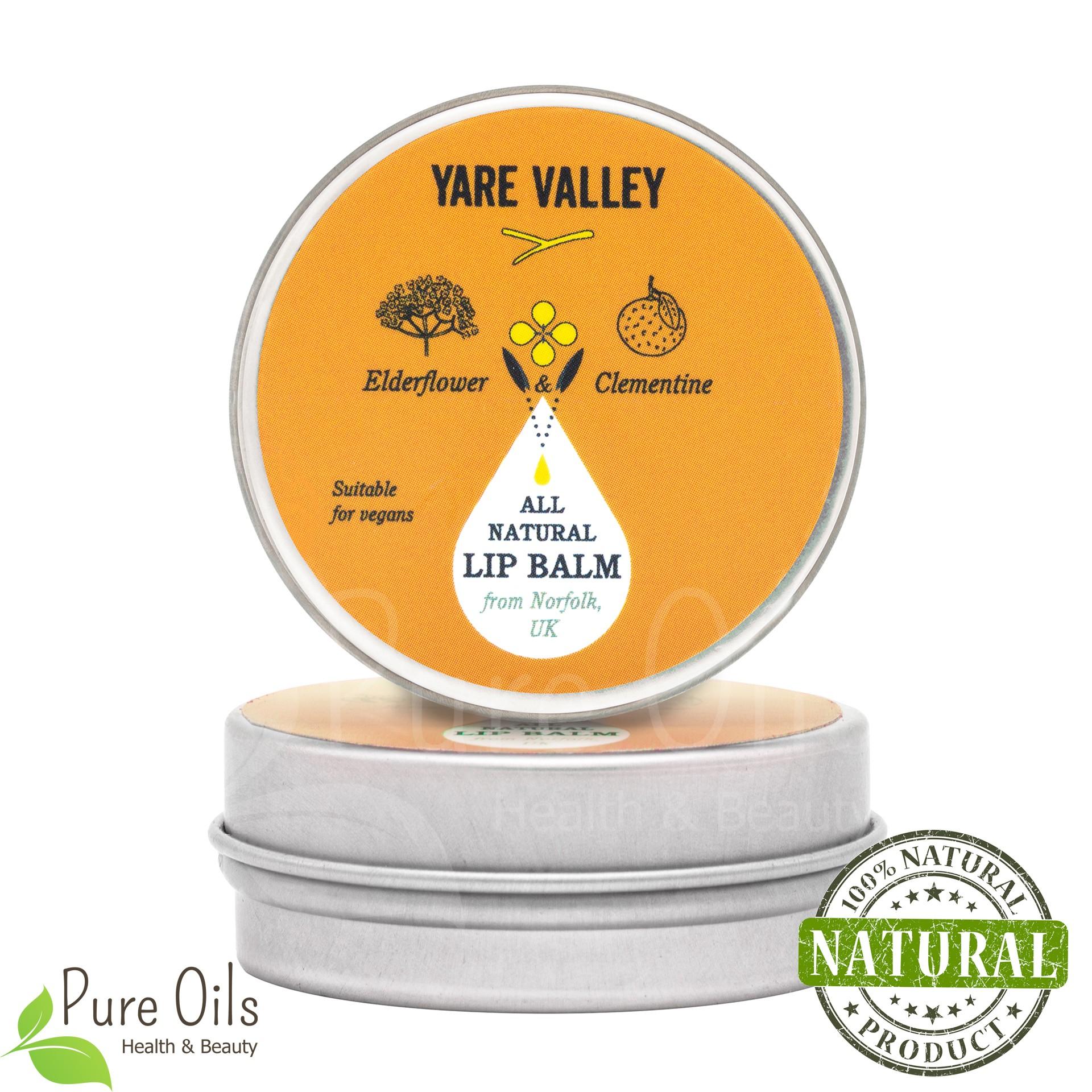 Elderflower and Clementine Natural Lip Balm, Yare Valley