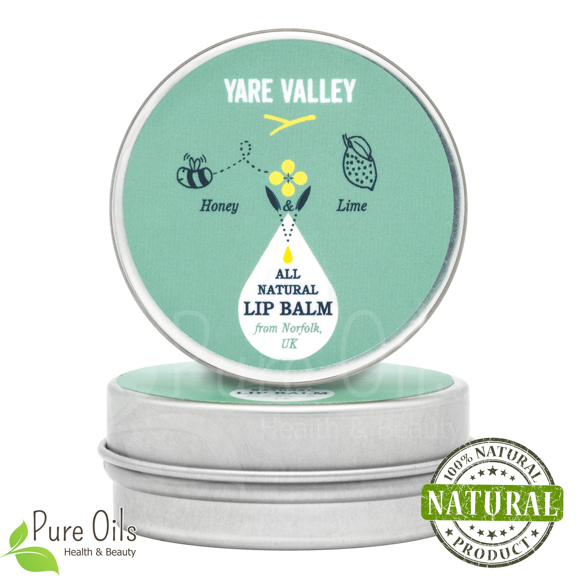 Honey and Lime Natural Lip Balm, Yare Valley