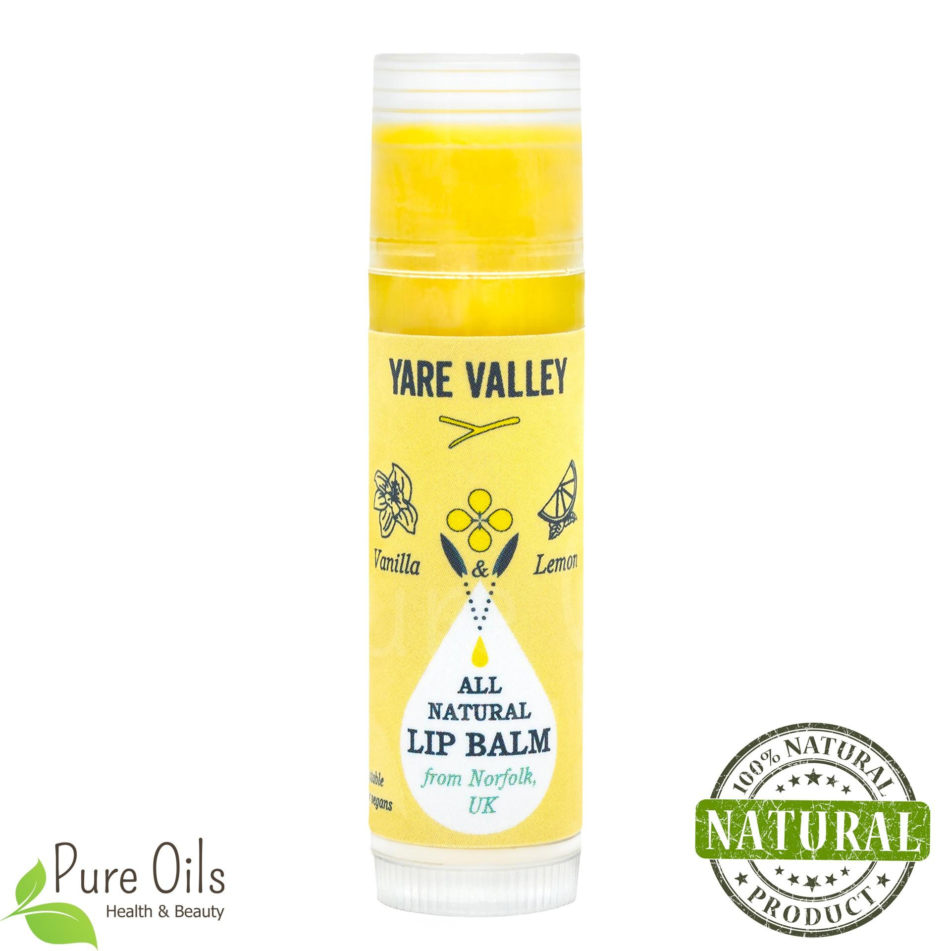 Vanilla and Lemon Natural Lip Balm Stick, Yare Valley