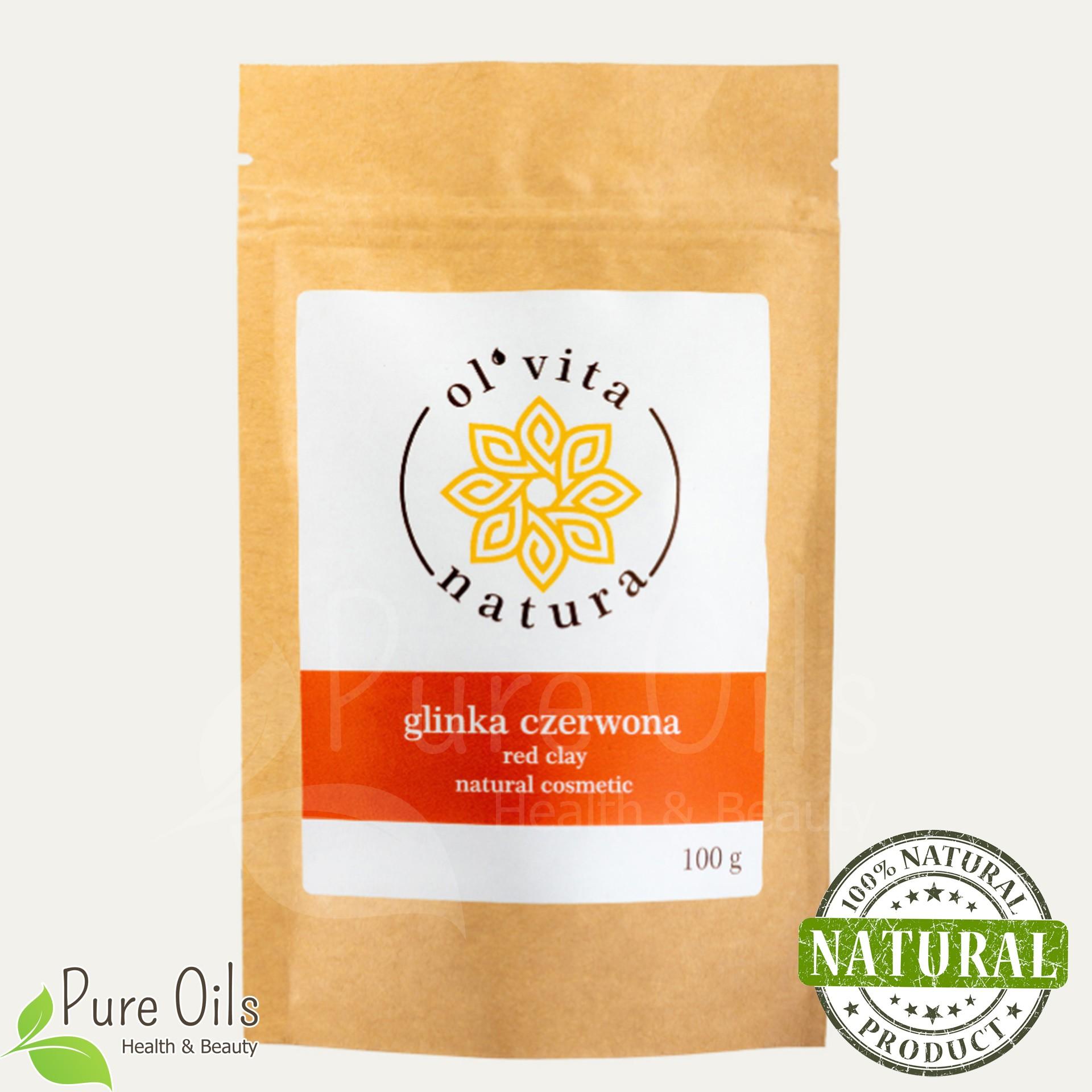 Glinka Czerwona - Naturalny kosmetyk organiczny, Ol'Vita...