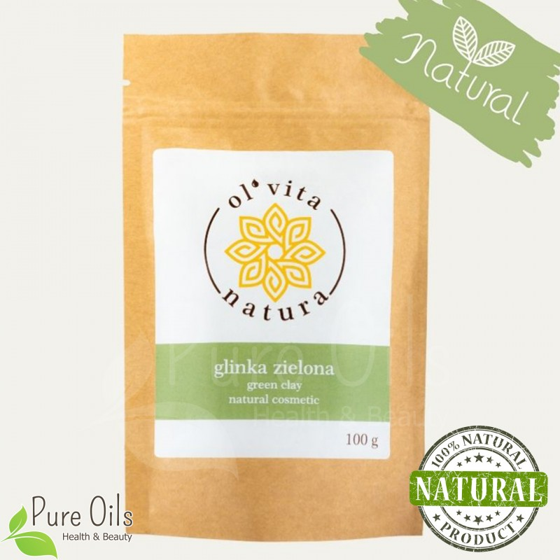 Green Clay - Natural organic cosmetic, Ol'Vita 100 g