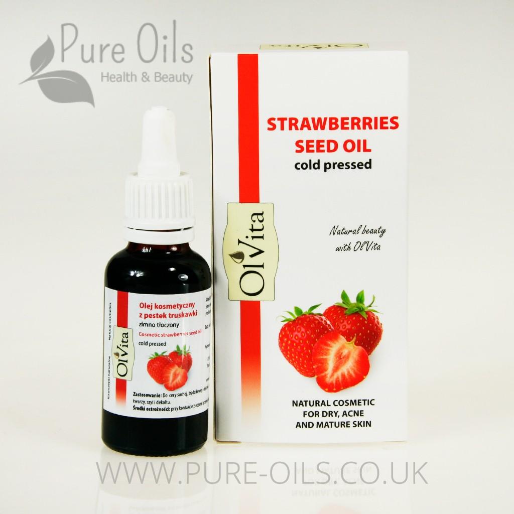 Strawberries Seed Oil, Cosmetic, Cold-Pressed, Ol-Vita 30 ml
