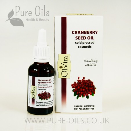 Cranberry Seed Oil, Cosmetic, Cold-Pressed, Ol'Vita 30 ml